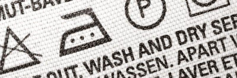 Etiqueta de instrucciones de lavado