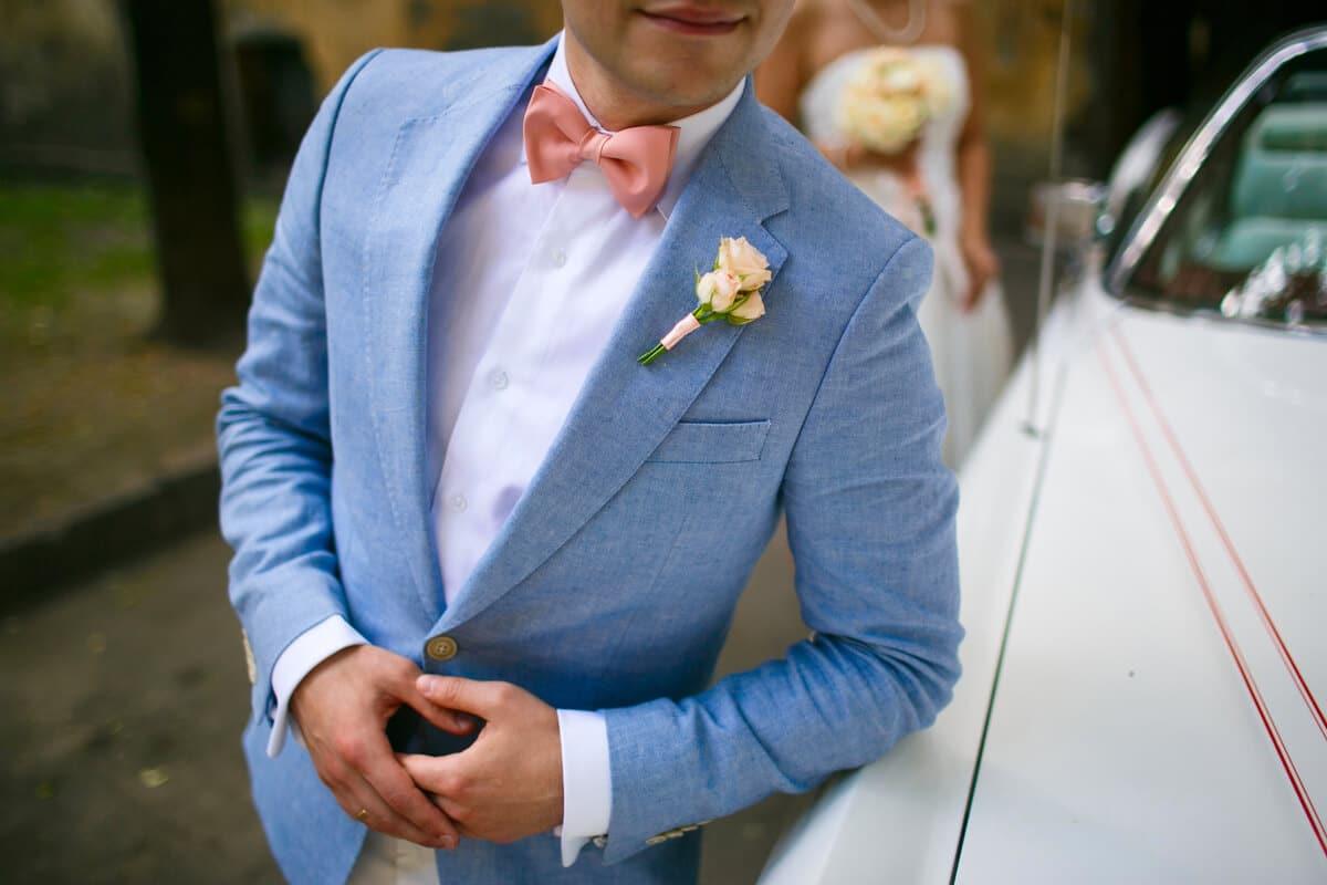 tonos traje de novio azul